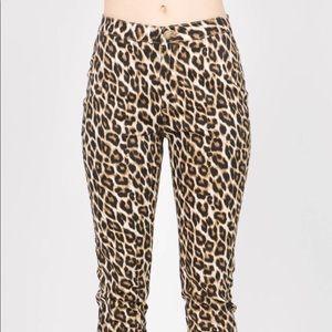 American Bazi Leopard Print Skinny Jeans
